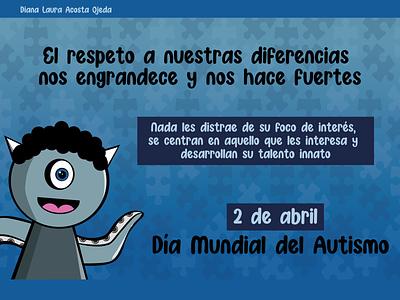 Diana Acosta graphic design cartel design autismo