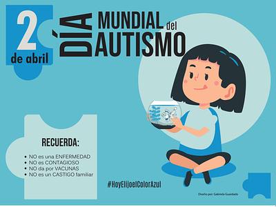 Cartel TEA children autism graphic design cartel design