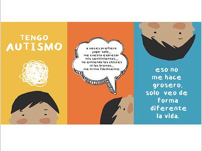 Cynthia Ramírez cartel autismo design graphic design