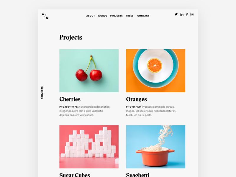 Portfolio Site web design web projects website design