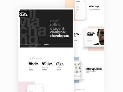 Portfolio ux ui design website web portfolio