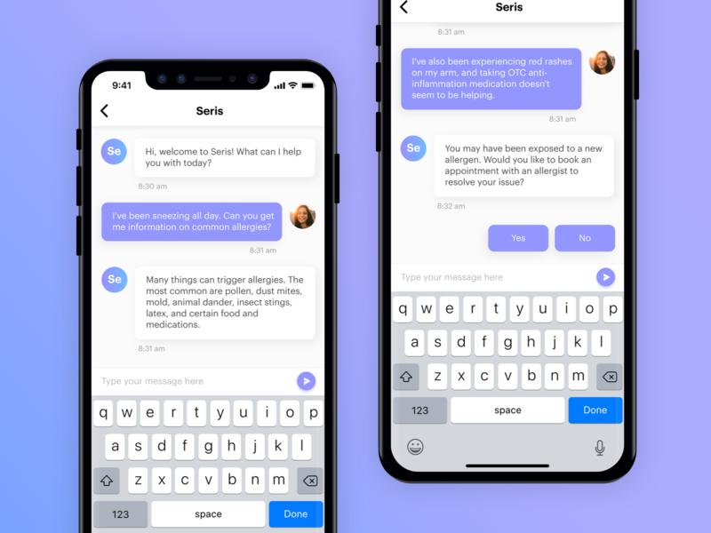 Seris app concept ui  ux app chatbot