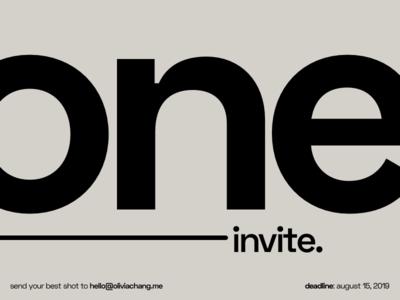 One Dribbble Invite dribbble invite