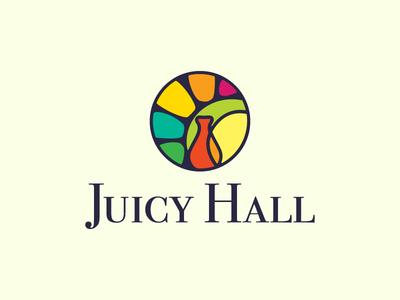 Juicy Hall tableware dishes logotype logo