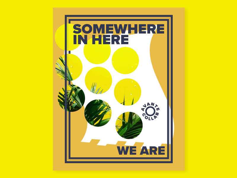Photo-graphic Collage plants yellow illustration poster graphic vector photo collage