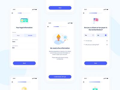 Pro Shine account opening flow on mobile - Shine pro account fintech app progress bar mobile onboarding neobank bank