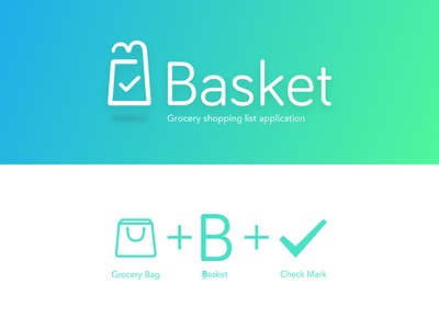 Basket Logo - Grocery Shopping list app grocery shopping list app app logo