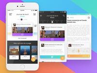 "Oboria - Tourist bus ""Living memory"" Mobile App"