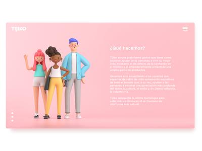 3D illustrations website design render c4d illustration character 3d