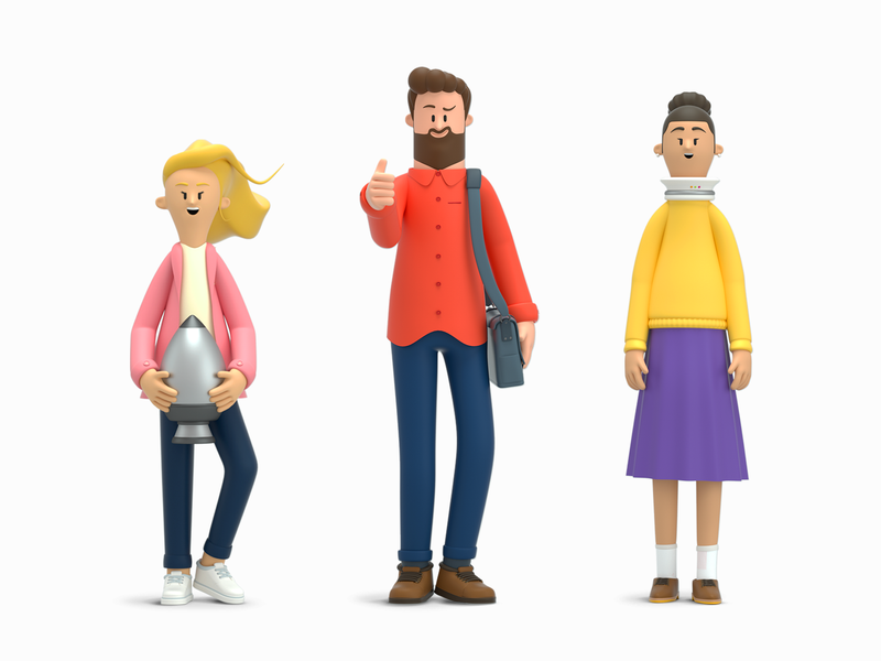 3D Characters Work.ua people design render c4d illustration character 3d