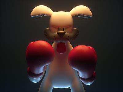 Dog 3D box dog design render c4d illustration character 3d