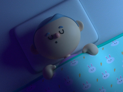 Sleep render design animation c4d illustration character 3d