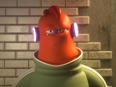 Ogre monster design render c4d illustration character 3d