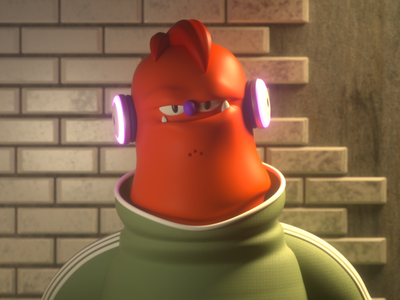 Ogre monster design render c4d illustration character 3d