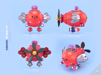 Fish submarine submarine fish design render c4d illustration character 3d