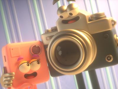 CAMERAS LOVE love gopro camera design render c4d illustration character 3d
