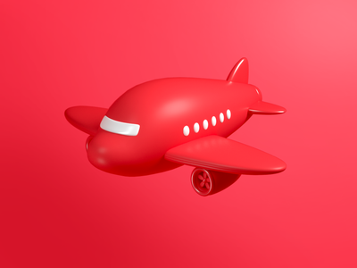 Airplane airplane icon design render c4d illustration 3d
