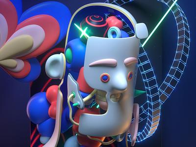 Smithe human digital art illustration design c4d character 3d