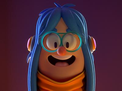 Character person design render c4d illustration character 3d