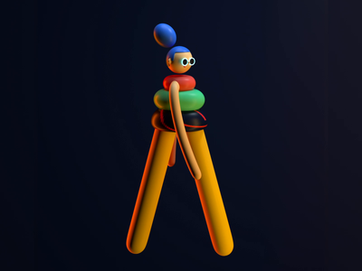 Walking walking girl design render c4d illustration character 3d