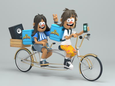 Delivery boys delivery person design render c4d illustration character 3d