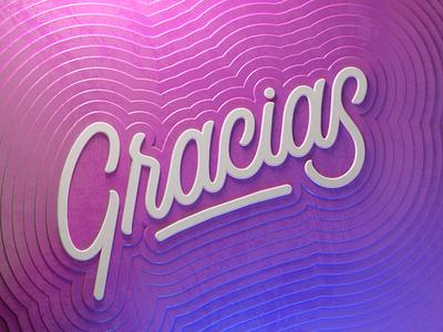 THANKS back web lettering letter design render c4d illustration 3d