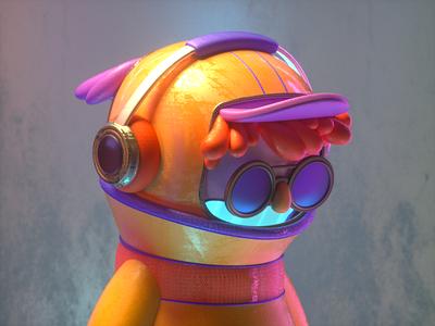MUSIC GUY human design c4d 3d character illustration headphones music