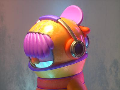 MUSIC GUY 2 headphones guy music design render c4d character illustration 3d