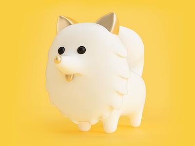 NICOLAS illustration character 3d dog