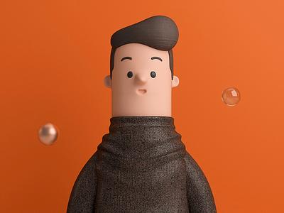 Sr. man design render c4d illustration character 3d