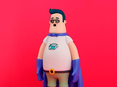 SUPER PLANCHA hero design render c4d illustration character 3d