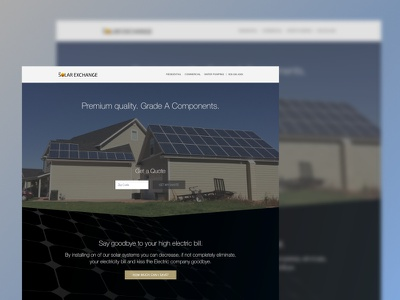 The Solar Exchange Website Redesign debut graphic design branding sun blue solar exchange solar web web development web design