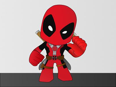 Chibi Deadpool affinity designer affinity vector deadpool chibi
