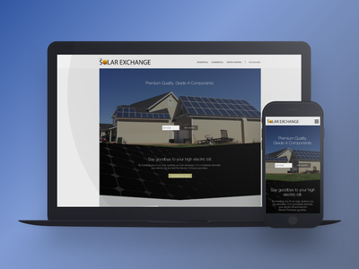 Solar Exchange Redesign Take 2 responsive mobile ux ui web web design energy solar