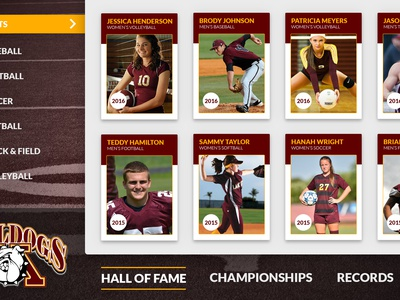 Madison High School Digital Signage bulldogs screen touch digital signage madison high school mvps hall of fame sports trophies