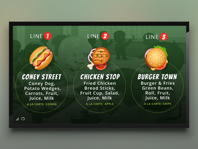 School Menu Theme for Digital Signage