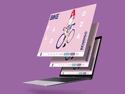 Bike Palooza animation branding illustration design