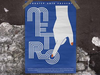 Metro Production typography branding illustration design