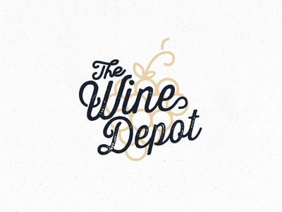 The Wine Depot wine branding logo