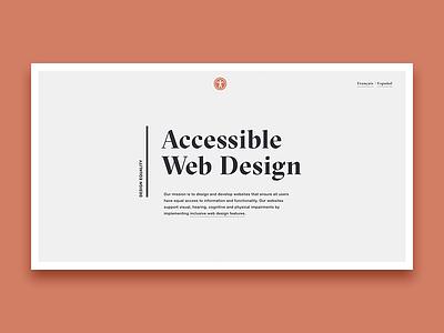 Accessible Web Design accessibility minimal simple landing typography web design website