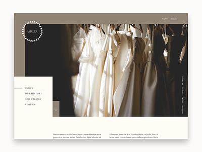 Bridal Boutique fashion wedding dress wedding bridal minimal simple landing typography website design web design website