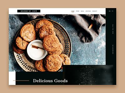 Café & Bakery bakery café cafe minimalism minimal simple landing typography graphic design website design web design website