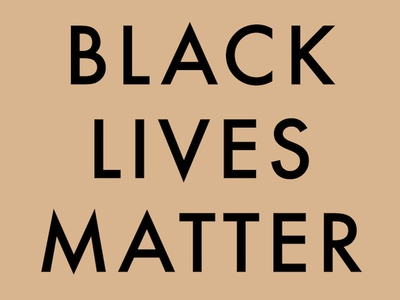 Black lives matter color futura typography type