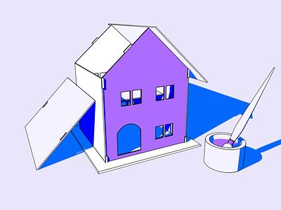 UI vs UX blog header adobe illustrator 3d 2d cinema 4d vector branding design color maze ux ui graphic design illustration