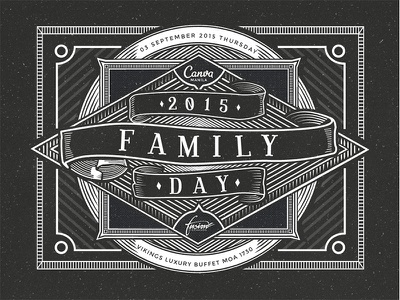 Canva Family Day Poster graphic design typography