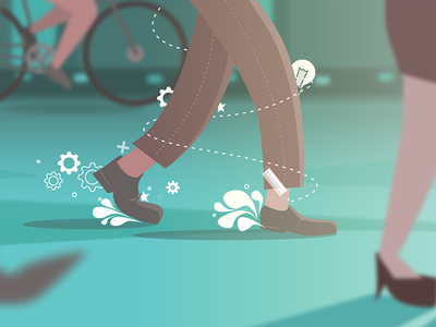 Canva Design School | Benefits of Walking gears canva walking bike shoes walk illustration