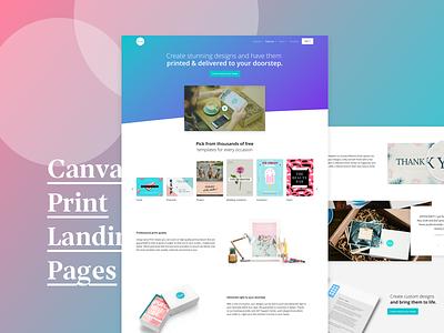 Canva Print Landing Page landing page web design