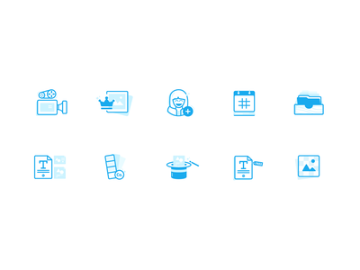 Canva for Work feature icons ux icon design canva vector ui design icon illustration