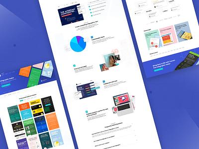 More landing page design! header layout design web design color graphic design landing page ux design canva ui