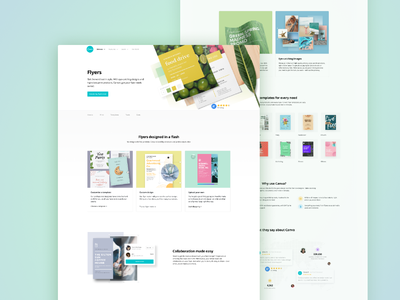 Discover Page | Flyers web design ux ui landing page canva